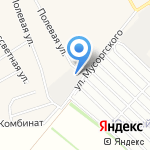Аркуда Додзё на карте Барнаула