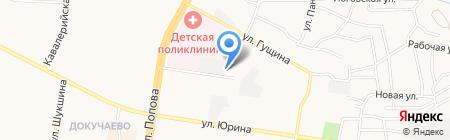 Гущинские бани на карте Барнаула