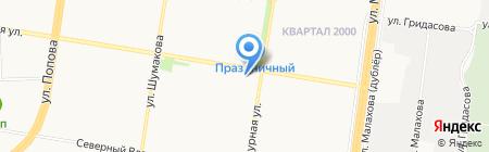 Бабочка на карте Барнаула