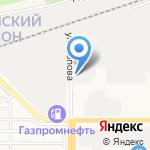 Лисья нора на карте Барнаула
