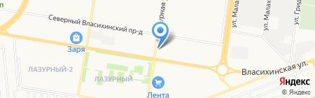 Интерьер Свет на карте Барнаула