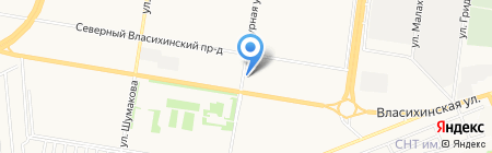 ОдинКурс на карте Барнаула