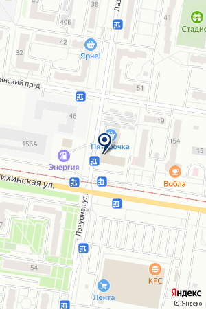 Магазин стеклянных столов на карте Барнаула