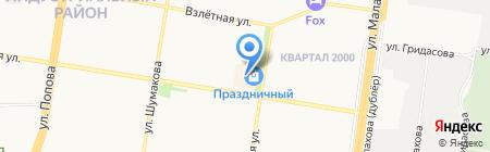Праздничный на карте Барнаула