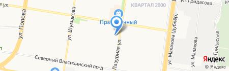 Лазурная-22 на карте Барнаула
