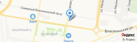 Миноми на карте Барнаула