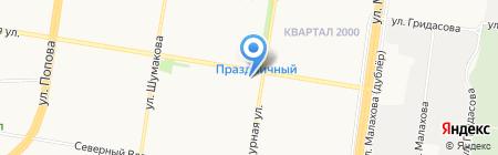 Вуаль на карте Барнаула