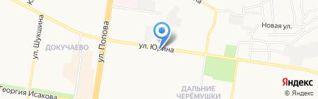 Игуана на карте Барнаула