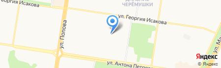 Детский сад №154 на карте Барнаула