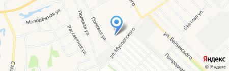 Юг-3 на карте Барнаула