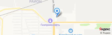 Автомастерская на проспекте Космонавтов на карте Барнаула