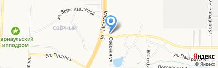 Заборы и теплицы на карте Барнаула