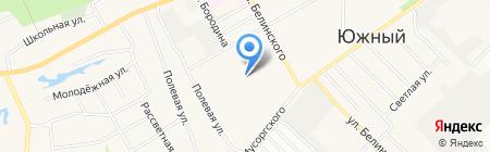Космея на карте Барнаула