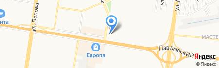 Три литра на карте Барнаула