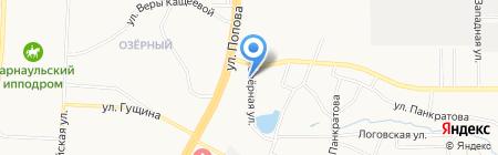 Райдо на карте Барнаула