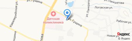 ДЮСШ №9 на карте Барнаула