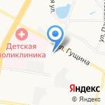 Детская школа искусств №7 на карте Барнаула