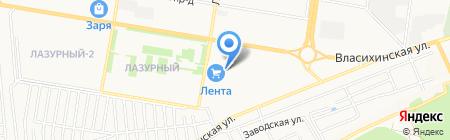 Банкомат Акцепт на карте Барнаула