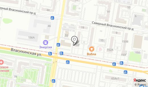 Любимая Стоматология. Схема проезда в Барнауле