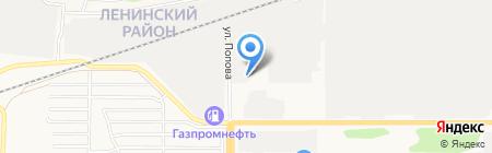 АЗС Роснефтепродукт на карте Барнаула