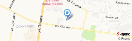 ФУРРА на карте Барнаула