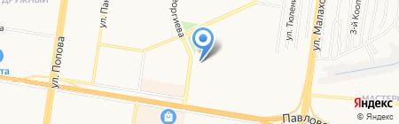 Городская поликлиника №9 на карте Барнаула