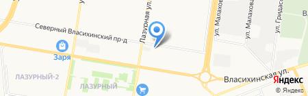 Квартал 2001А на карте Барнаула