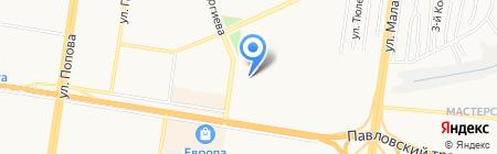 Татьянка на карте Барнаула