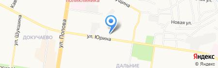 Хваран на карте Барнаула