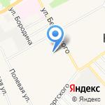 Кензо на карте Барнаула