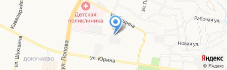 Александровский на карте Барнаула
