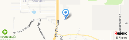 Строймет на карте Барнаула