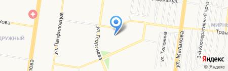 Детско-юношеский центр Индустриального района на карте Барнаула