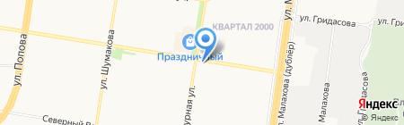 Цве...точка на карте Барнаула