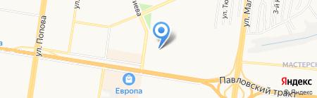 Двери Потолки на карте Барнаула