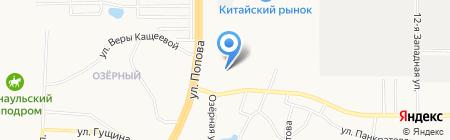 Листогиб на карте Барнаула