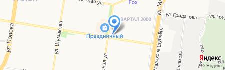 Лапоток на карте Барнаула