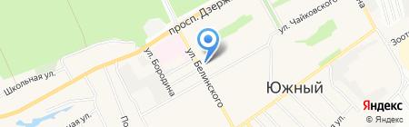 Авангард-Спорт на карте Барнаула