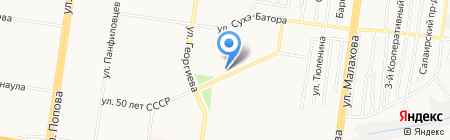 АША на карте Барнаула