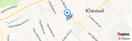 Южком на карте Барнаула
