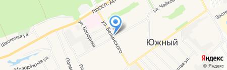 Зеленый сад на карте Барнаула
