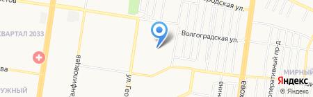 Версавия на карте Барнаула