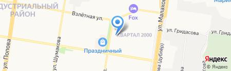 Лазурная на карте Барнаула