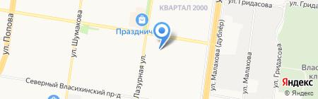 ПАЛЬМА-КЛУБ на карте Барнаула