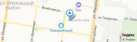 Гланс на карте Барнаула