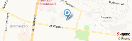 Детская городская поликлиника №7 на карте Барнаула