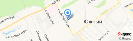 Городская больница №10 на карте Барнаула