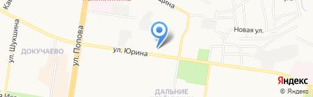 Магазин штор и домашнего текстиля на карте Барнаула