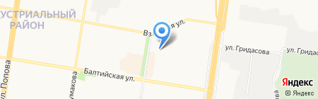 Мир климата на карте Барнаула