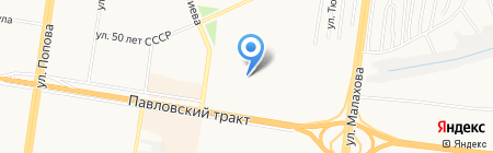 Детский сад №230 на карте Барнаула